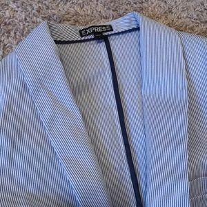 Express blue/white pinstripe blazer